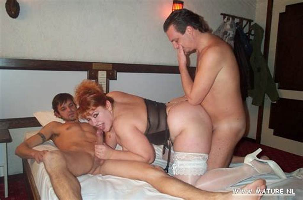 #Chubby #Mature #Slut #Getting #Fucked #By #Two #Guys