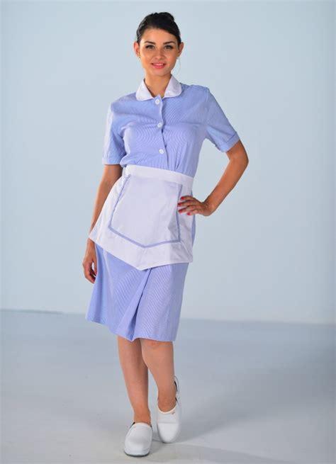 femmes de chambre blouse femme de chambre à manches courtes bleu ciel carlton