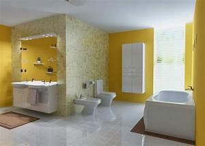 salle de bain coloree 55 meubles carrelage et peinture With salle de bain design avec peinture antidérapante
