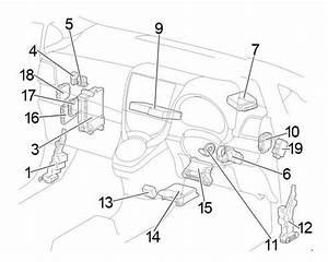 Toyoto Verso-s  2010 - 2017  - Fuse Box Diagram