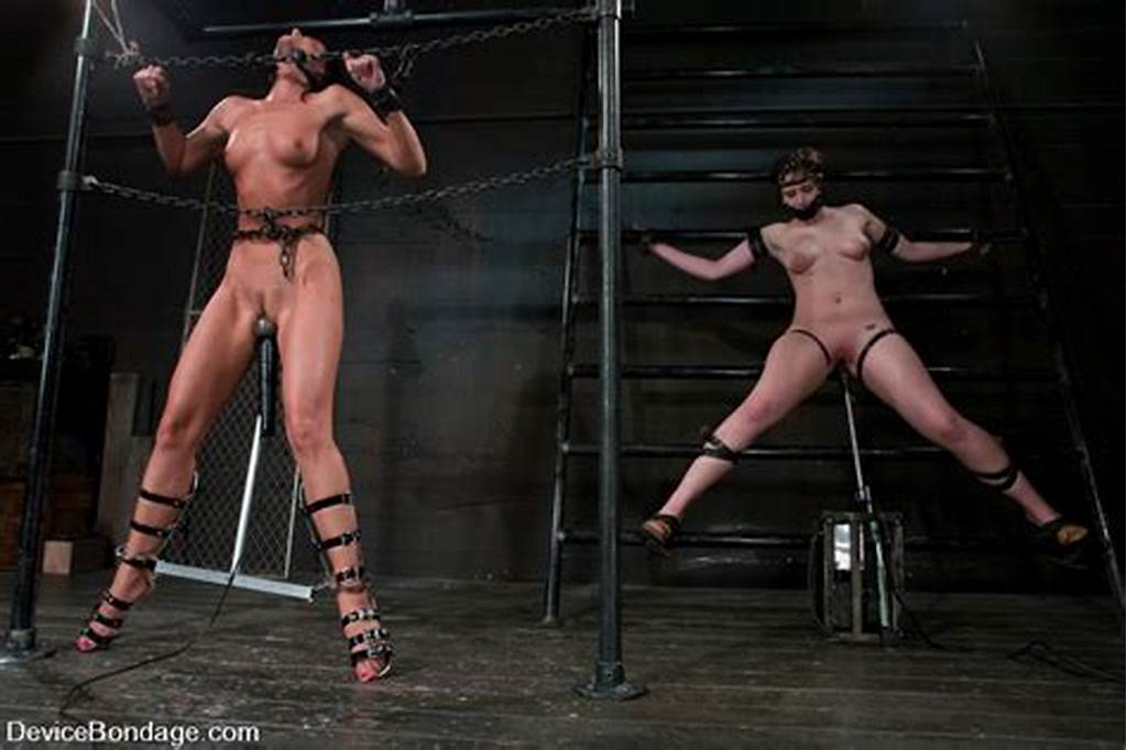 #Chicks #Playing #Bondage #Games #Strap #And #Bind