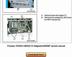 Konica Minolta Magicolor 4695mf Service Repair Manual