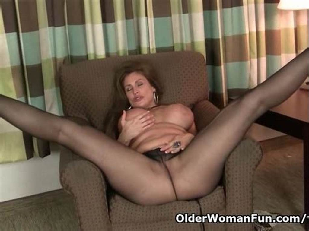 #American #Milf #Sheila #Gets #Turned #On #By #Pantyhose