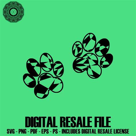 Download as svg vector, transparent png, eps or psd. Dog Paws Mandala SVG November Collection Digital Download ...