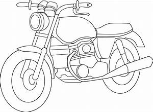 Motorcycle Clip Art Black And White Drawings | Clipart ...