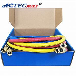 3 Colors Ac R134a Refrigerant Charging Hose For Air Conditioning Refrigerant R404a R134a R22 R12