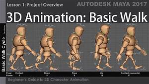 3d Basic Walk Cycle - Lesson 1 - Overview