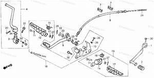 Honda Atv 1985 Oem Parts Diagram For Step    Pedal