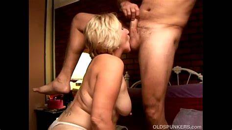 Granny Enjoys The Taste Of Spunk Foxy Old Spunker Licks His Snatch And Swallows Cocks