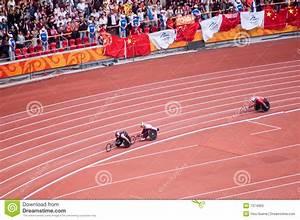 Maratona Dos Homens Em Jogos De Beijing Paralympic Foto de ...