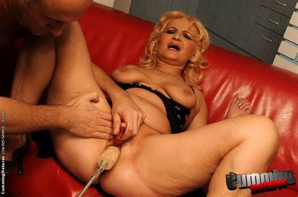 #Blonde #Haired #Granny #Marianne #Takes #Big #Brutal #Dildo #After