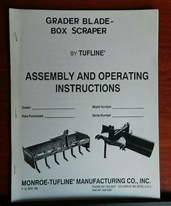 Tufline  Grader Blade  Box Scraper
