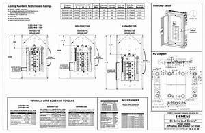 Siemens S2020b1100 Es Series 100 Amp 20