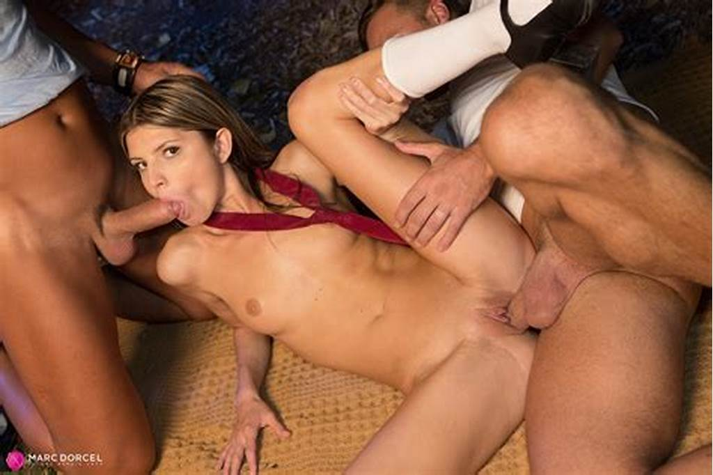 #Gina #Gerson #In #Student #Outdoor #Threesome