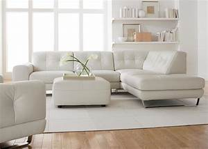 Modern sofa white leather gallery of b modern red and for Used modern sectional sofa
