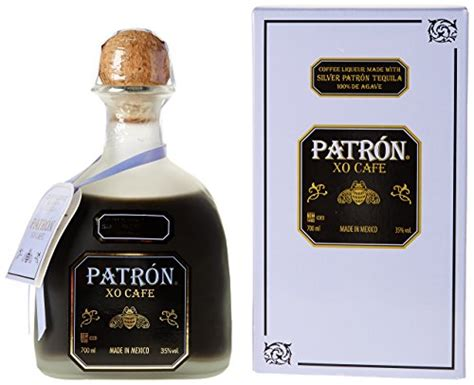 It features notes of coffee and light tequila with a smooth, yet dry finish. Patron XO Cafe Tequila Coffee Liqueur 70 cl ...