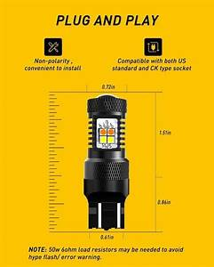Auxito White  Amber 7443 7440 7444 Switchback Led Bulbs