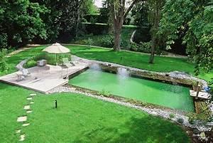 image naturelle paysage With prix d une piscine naturelle