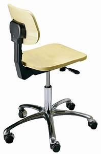 Chaise Pied Chromé : chaise laboratoire en bois avec pied chrom ~ Teatrodelosmanantiales.com Idées de Décoration