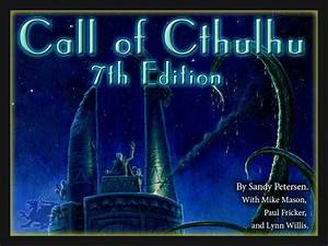 Susurros Desde La Oscuridad  Call Of Cthulhu 7th Edition