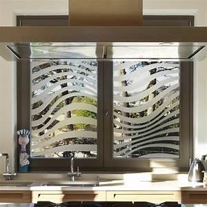 Stickers Pour Vitre : sticker occultant pour vitre et fen tre rayure vague ~ Melissatoandfro.com Idées de Décoration