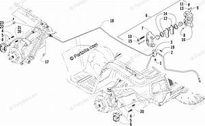 Arctic Cat Atv 2003 Oem Parts Diagram For Hydraulic Brake