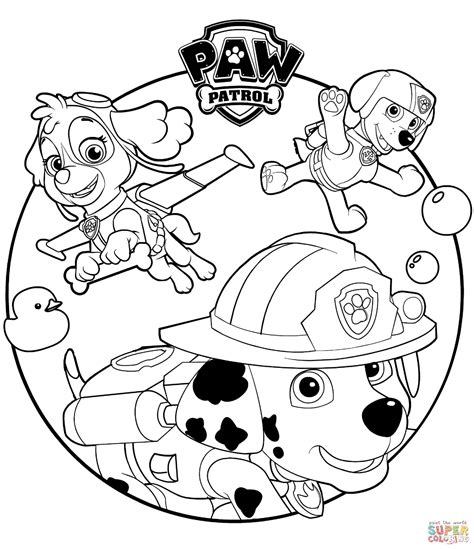 60+ images for 'Paw Patrol Clipart Black And White'