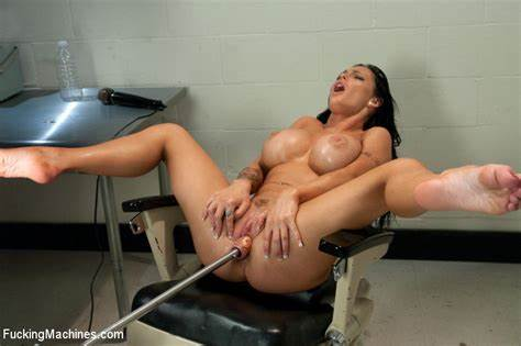 High Brunette Immense Dildos Fucker