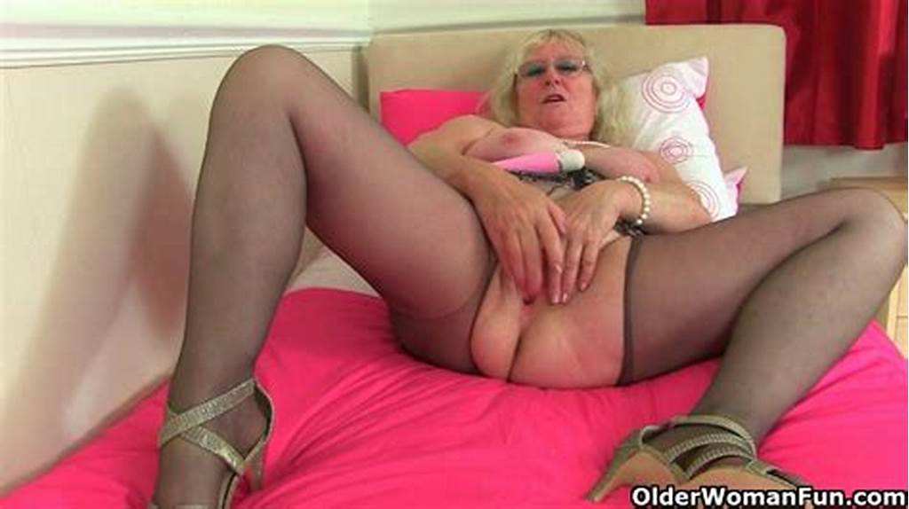 #British #Granny #Claire #Knight #Is #Pleasuring #Her #Old #Cunt