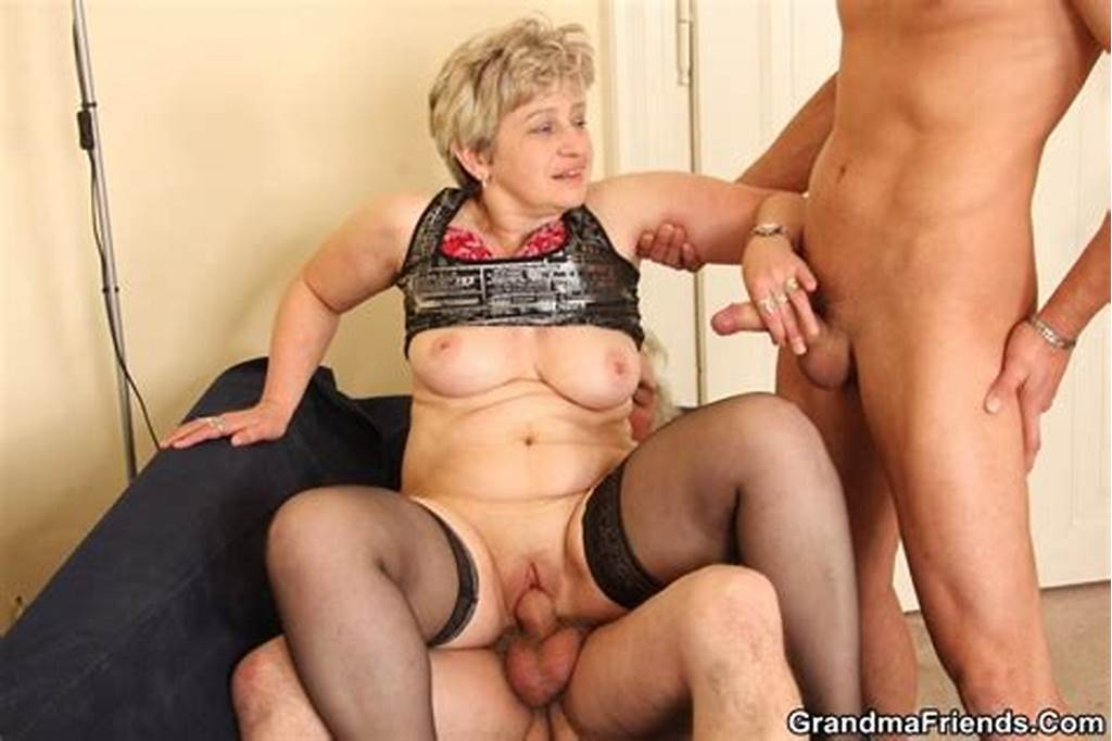 #Stocking #Wore #Horny #Granny #Gives #Blowjob #And #Gets #Banged