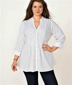 femmes rondes oubliez le noir pour une chemise blanche With vêtements pour femme ronde