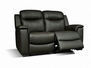 Relaxsofa 2 Sitzer : relaxsofa leder 2 sitzer evasion schwarz g nstig ~ Watch28wear.com Haus und Dekorationen
