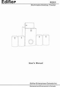 Edifier Enterprises Canada R351 Users Manual R351