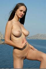 Skinny model big boobs