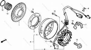 Honda Atv 1985 Oem Parts Diagram For Alternator
