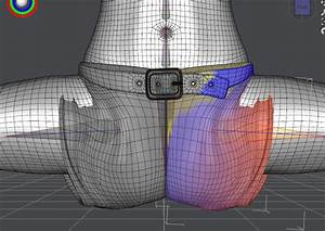 Blender Crotch Stretching Weight Map