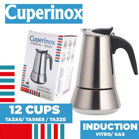Browse a wide selection of coffee makers & kettles with 100% price match guarantee! CUPERINOX Kettle Italian Induction   12 cups SALE Coffee Makers Shop   BuyMoreCoffee.com