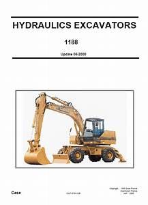 Case 1188 Crawler Wheeled Excavators Schematic Set Pdf