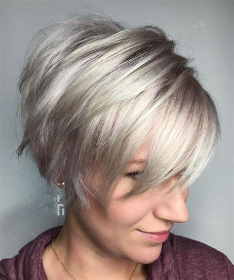 Long Choppy Silver Pixie Longer pixie haircut