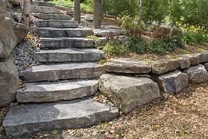 cascade en pierre naturelle dootdadoocom idees de With chemin de jardin en pierre 0 fabriquer un escalier en pierre naturelle