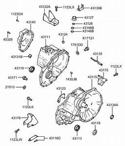 2002 Hyundai Elantra Transaxle Case-manual