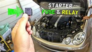 Mercedes W211 Starter Fuse Relay Location