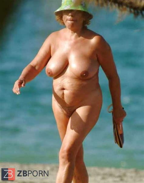 Grannies naked at the beach