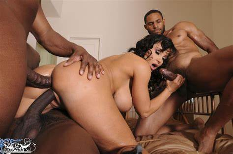 Pigtails Monster Cocks Double Penetrate Ebony Damn