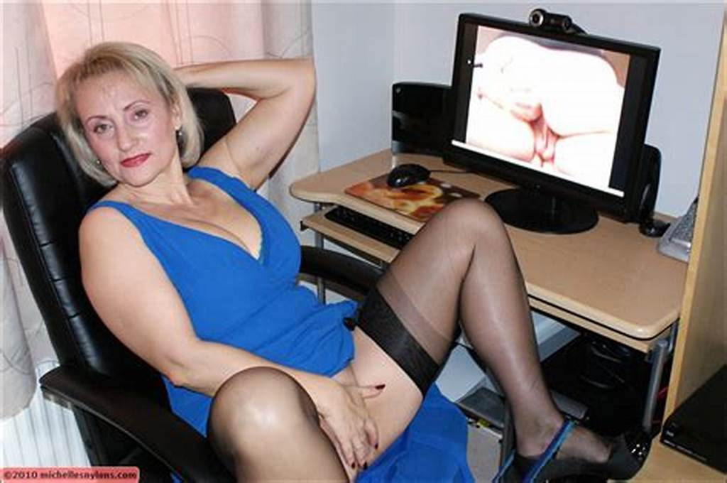 #Hot #Blonde #Mature #Lady #Shows #Her #Long #Sexy #Legs #And