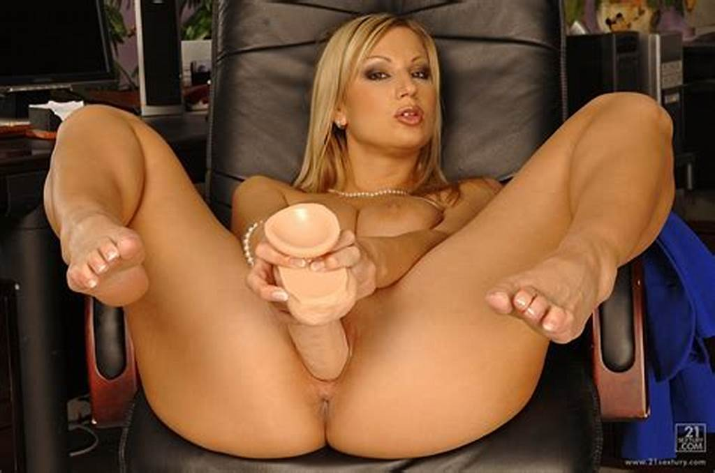 #Busty #Secretary #Carol #Goldnerova #Playing #With #Huge #Dildo