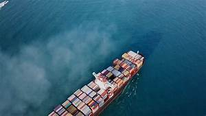 Aerial Shot Of Container Ship In Ocean Stock Footage Video ...