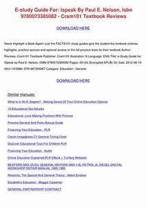 E Study Guide For Ispeak By Paul E Nelson Isb By