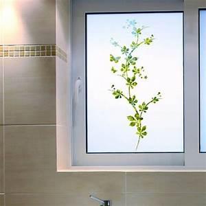 Adhésif Fenetre Opaque : stickers occultant rideaux branches avec papillons brise ~ Edinachiropracticcenter.com Idées de Décoration