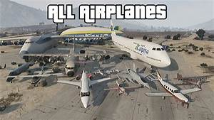 GTA 5 - All Airplanes (with Cargo Plane & Jet) - YouTube